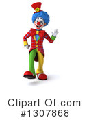 Clown Character Clipart #1307868 by Julos