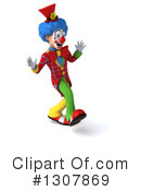 Clown Character Clipart #1307869 by Julos