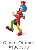 Clown Character Clipart #1307870 by Julos