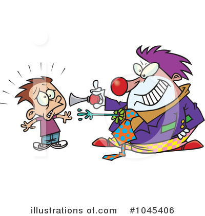 Clown Clipart #1045406 by toonaday