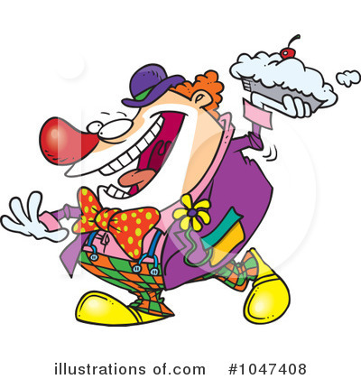 Clown Clipart #1047408 by toonaday