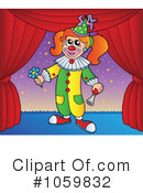 Royalty-Free (RF) Clown Clipart Illustration #1059832