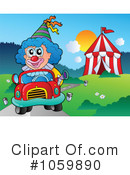 Royalty-Free (RF) Clown Clipart Illustration #1059890