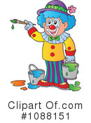 Royalty-Free (RF) Clown Clipart Illustration #1088151