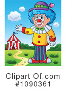Royalty-Free (RF) Clown Clipart Illustration #1090361