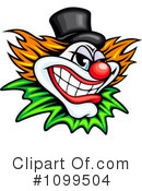 Royalty-Free (RF) Clown Clipart Illustration #1099504