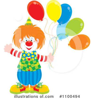 Clown Clipart #1100494 by Alex Bannykh