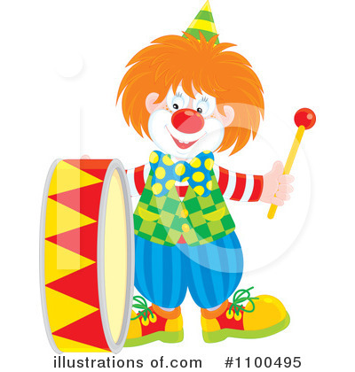 Clown Clipart #1100495 by Alex Bannykh