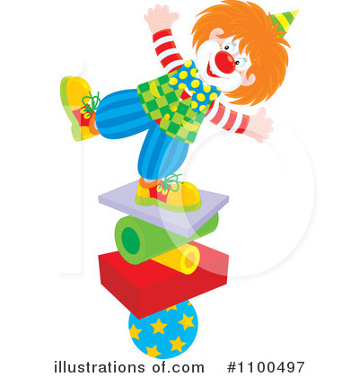 Clown Clipart #1100497 by Alex Bannykh