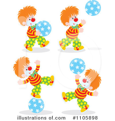 Clown Clipart #1105898 by Alex Bannykh