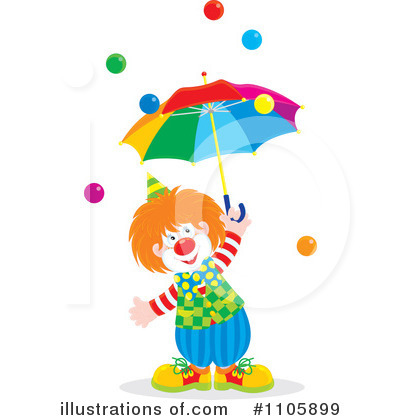 Clown Clipart #1105899 by Alex Bannykh