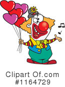 Royalty-Free (RF) Clown Clipart Illustration #1164729