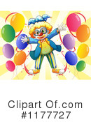 Royalty-Free (RF) clown Clipart Illustration #1177727
