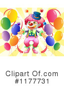Royalty-Free (RF) clown Clipart Illustration #1177731