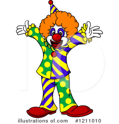 Clown Clipart #1211010 by Vector Tradition SM