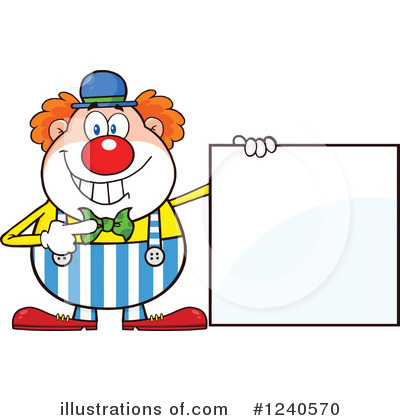 Clown Clipart #1240570 by Hit Toon