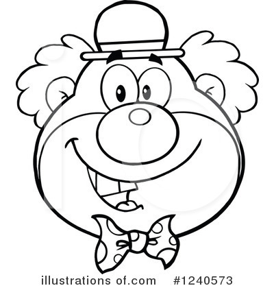 Clown Clipart #1240573 by Hit Toon