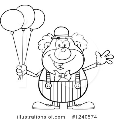 Clown Clipart #1240574 by Hit Toon
