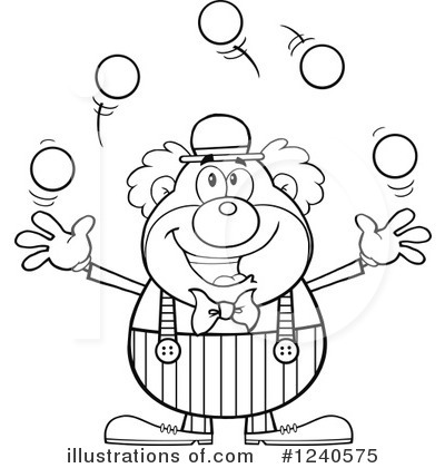 Clown Clipart #1240575 by Hit Toon