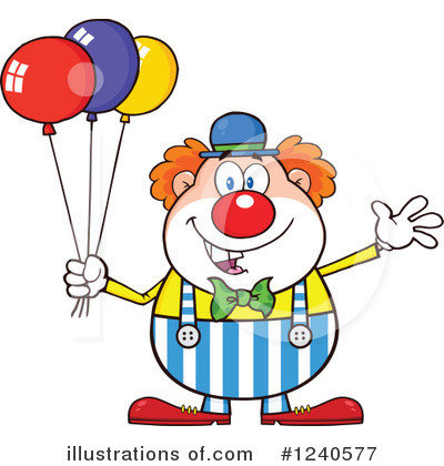 Balloons Clipart #1240577 by Hit Toon