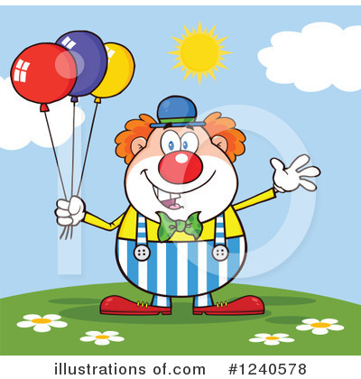 Clown Clipart #1240578 by Hit Toon