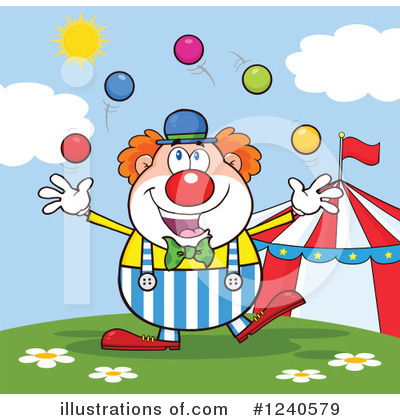 Clown Clipart #1240579 by Hit Toon