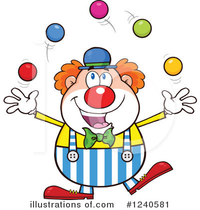 Clown Clipart #1240581 by Hit Toon