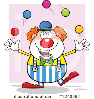 Clown Clipart #1240584 by Hit Toon