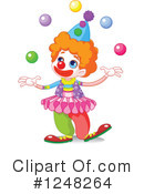 Clown Clipart #1248264 by Pushkin
