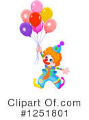 Royalty-Free (RF) Clown Clipart Illustration #1251801