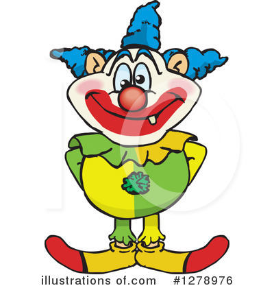 Clown Clipart #1278976 by Dennis Holmes Designs