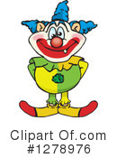 Royalty-Free (RF) Clown Clipart Illustration #1278976