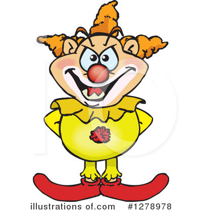Clown Clipart #1278978 by Dennis Holmes Designs