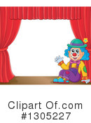 Royalty-Free (RF) Clown Clipart Illustration #1305227