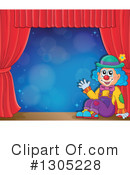 Royalty-Free (RF) Clown Clipart Illustration #1305228