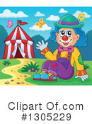 Royalty-Free (RF) Clown Clipart Illustration #1305229