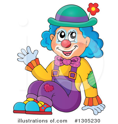 Clown Clipart #1305230 by visekart