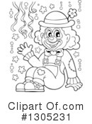 Royalty-Free (RF) Clown Clipart Illustration #1305231