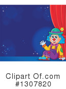 Royalty-Free (RF) Clown Clipart Illustration #1307820