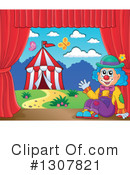 Royalty-Free (RF) Clown Clipart Illustration #1307821