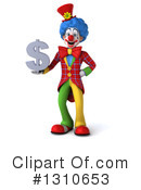 Clown Clipart #1310653 by Julos
