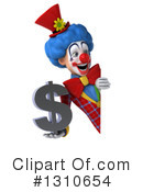 Clown Clipart #1310654 by Julos