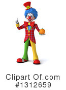 Clown Clipart #1312659 by Julos