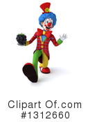 Clown Clipart #1312660 by Julos