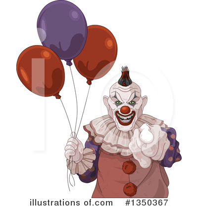 Clown Clipart #1350367 by Pushkin