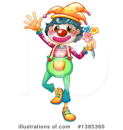 Clown Clipart #1385360 by Graphics RF