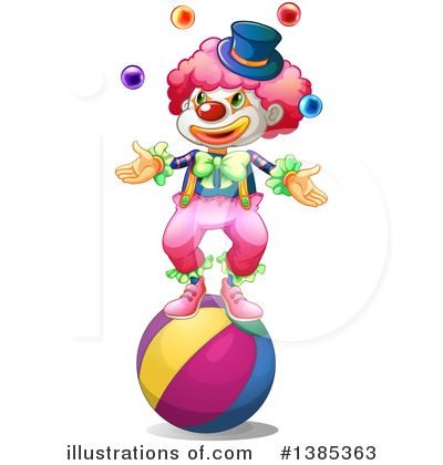 Clown Clipart #1385363 by Graphics RF