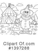 Royalty-Free (RF) Clown Clipart Illustration #1397288