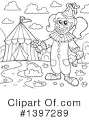 Royalty-Free (RF) Clown Clipart Illustration #1397289
