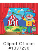 Royalty-Free (RF) Clown Clipart Illustration #1397290